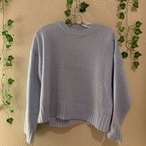 Blue Simple Soft Sweater
